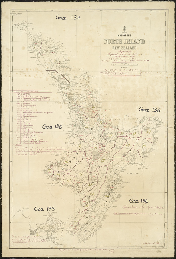 New Zealand Maori Map.Map Of The North Island With Iwi Boundaries And Maori Pop Flickr