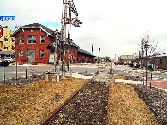 Unused track and depot at Kokomo Indiana