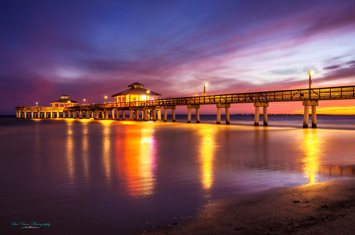 ocean sunset beach pier florida fortmyersbeach