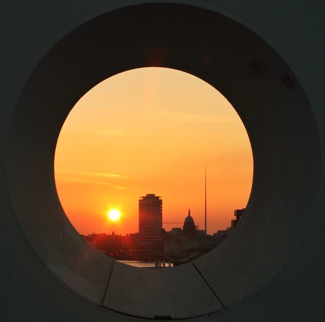 Sundown on the Liffey