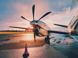 Sunset with a Saab 2000 #travel | by Moody Fotografi