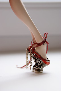 Silver shoes for porcelain doll | by Oh my dolls