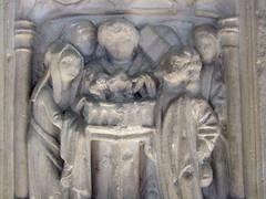 seven sacrament font: baptism (detail)