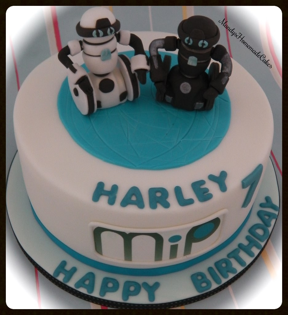 Fine Mip Robot Birthday Celebration Cake Mandys Homemade Cakes Flickr Personalised Birthday Cards Epsylily Jamesorg
