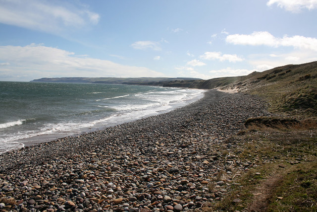 The beach at Thorntonloch