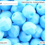PRECIOSA Fire-Polished Beads - 151 19 001 - 02010/29576 - Azure Blue