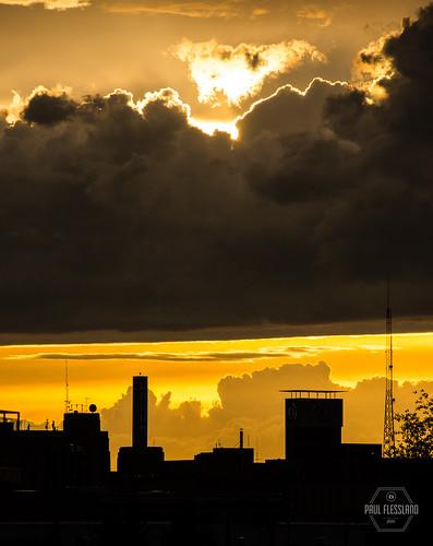 city sunset sky skyline clouds landscape cityscape northdakota fargo