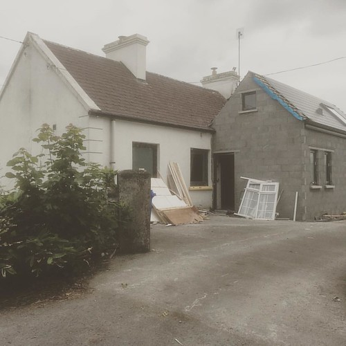 Site visit to double pitch extension to cottage #Mayo | by Mark Stephens Architect