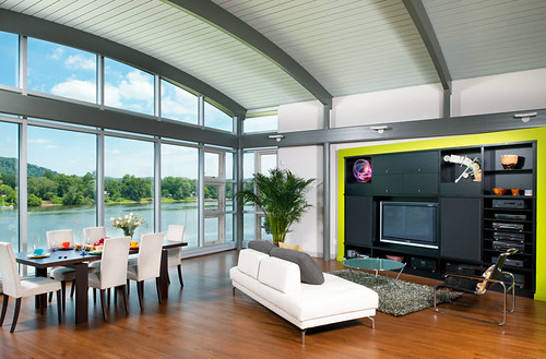 WO RQ Clear 3 NB Pgh Living Dining Room River home contemp ...