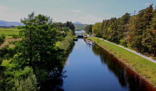 The Caledonia Canal and Ben Nevis
