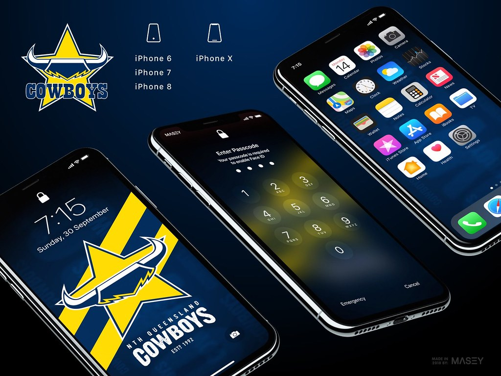 North Queensland Cowboys iPhone Wallpaper