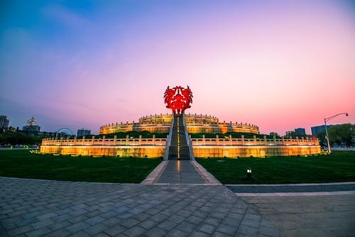 sunset temple square statue cloud sky light neon twilight dark architecture nikon nikond800 outdoor
