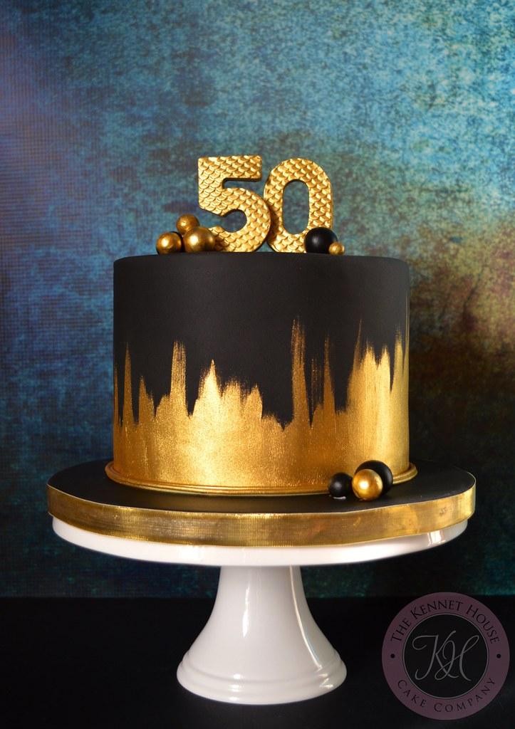 Gold 50th Birthday Cake Anna Adams Flickr