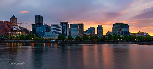 portland oregon willametteriver reflection dusk