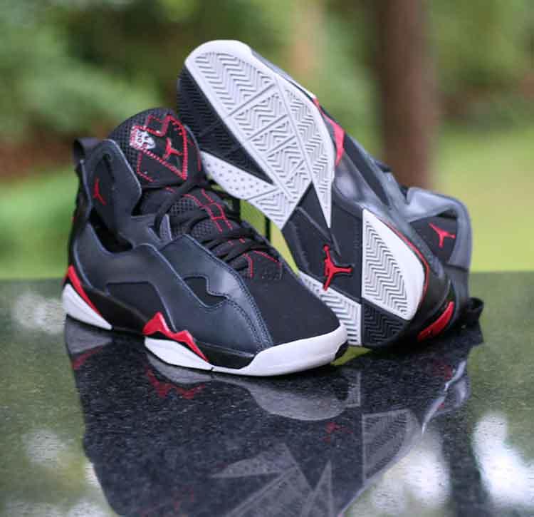 c4cc5604e80a89 ... Nike Air Jordan True Flight Kids Black Gym Red Wolf Grey 343795-002  Boy s Size