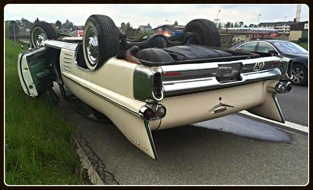 Ouch!!! Cadillac Coupe de Ville 1958
