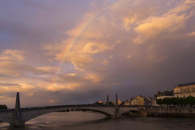 Rainbow over The Saone
