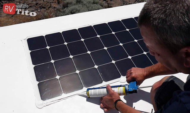 Wed, 07/20/2016 - 22:13 - Mounting and sealing up flexible solar panels on an RV