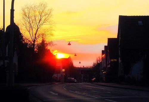 street city sunset sky beautiful sunrise germany skyscape cityscape sonnenuntergang sunny bremen ohz osterholzscharmbeck osterholz scharmbeck