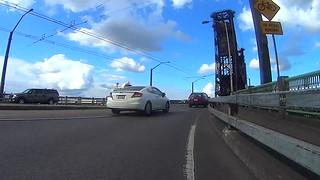 illegal pass with unsafe speed on steel bridge