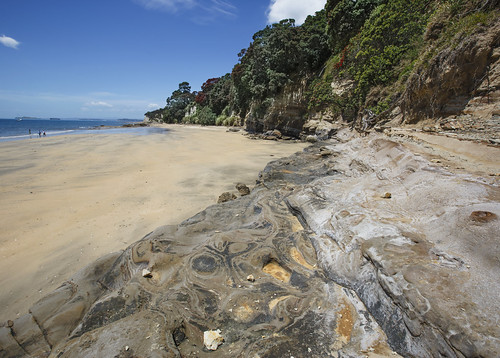 ocean newzealand summer cliff beach nature landscape sand harbour tide low shoreline rocky auckland shore nz takapuna waterscape ef1635mmf28liiusm canoneos5dmarkiii lisaridings fantommst