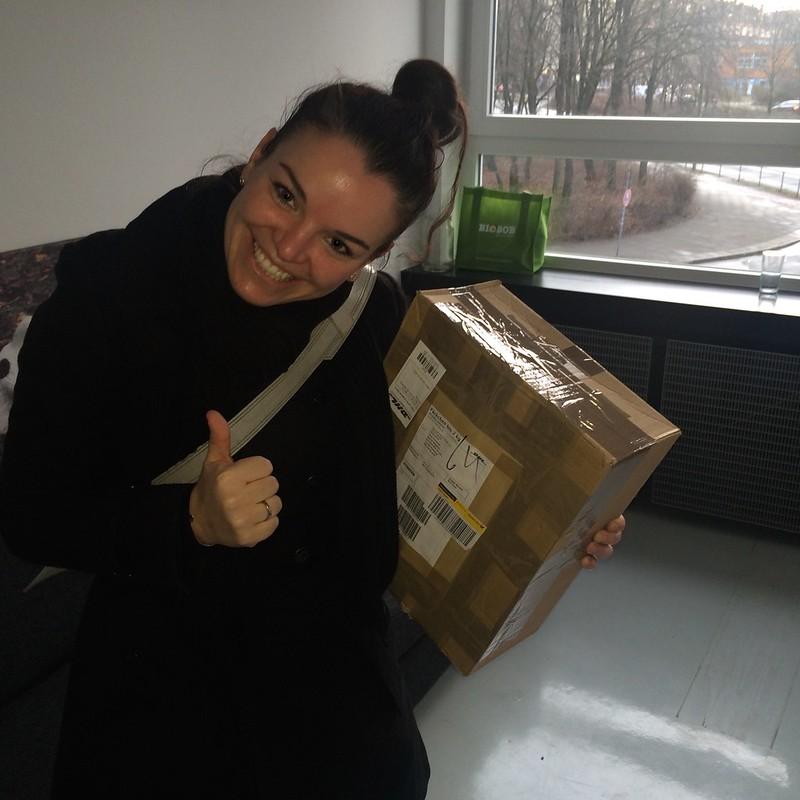 Paket in HH angekommen