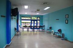En la imagen se puede ver una de las mesas del Colegio situado en el Centro Cívico Miguel de Unamuno