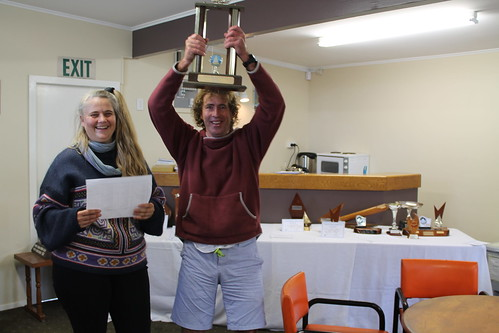 Andrew Irving, winner of the The Daval Trophy (Match Racing) | by PLSC (Panmure Lagoon Sailing Club)