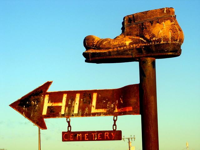 Cemetery Sign - Cobber Pedy