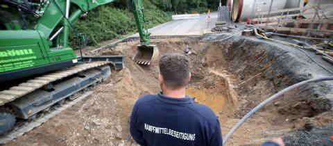 Obras en donde ha sido hallada la bomba ww2 en Colonia