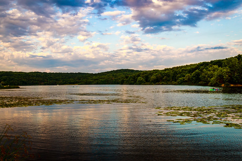sunset sky clouds landscape lakes scenic vivid moraine davidsharo