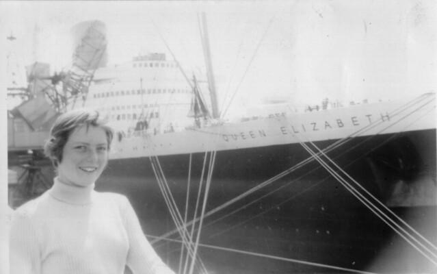 1956 - 06 - Val alongside Queen Elizabeth