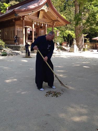 Raking Leaves at Kamado Shrine | by Mark Tankosich