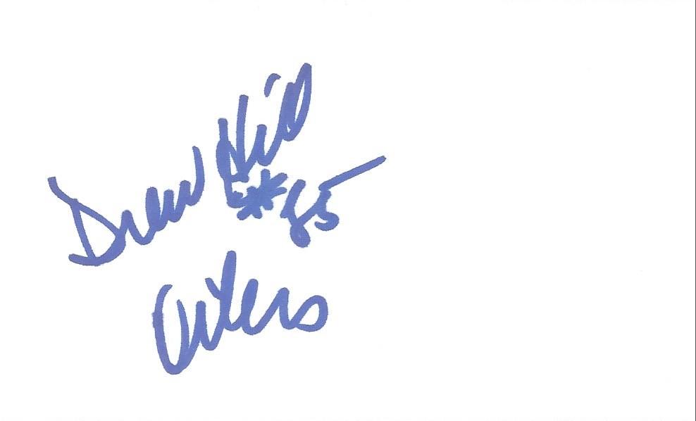 Autographed 3x5 Card - Drew Hill | Joe Merchant | Flickr