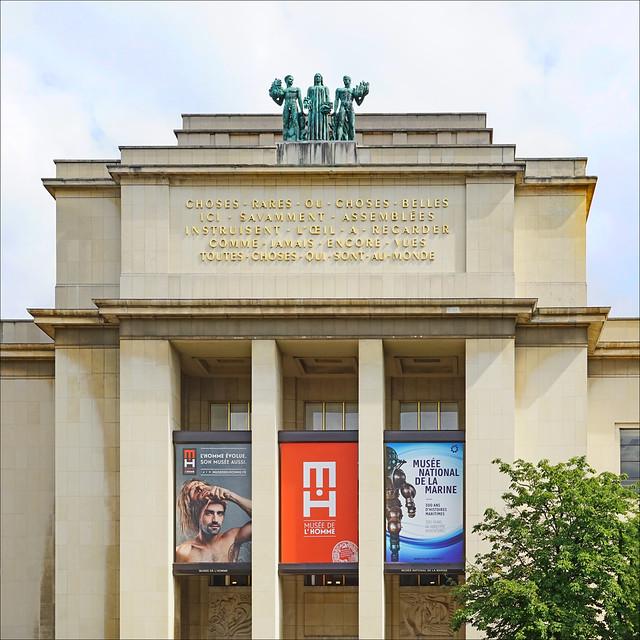 Le Musée de l'Homme au palais du Trocadéro à Paris