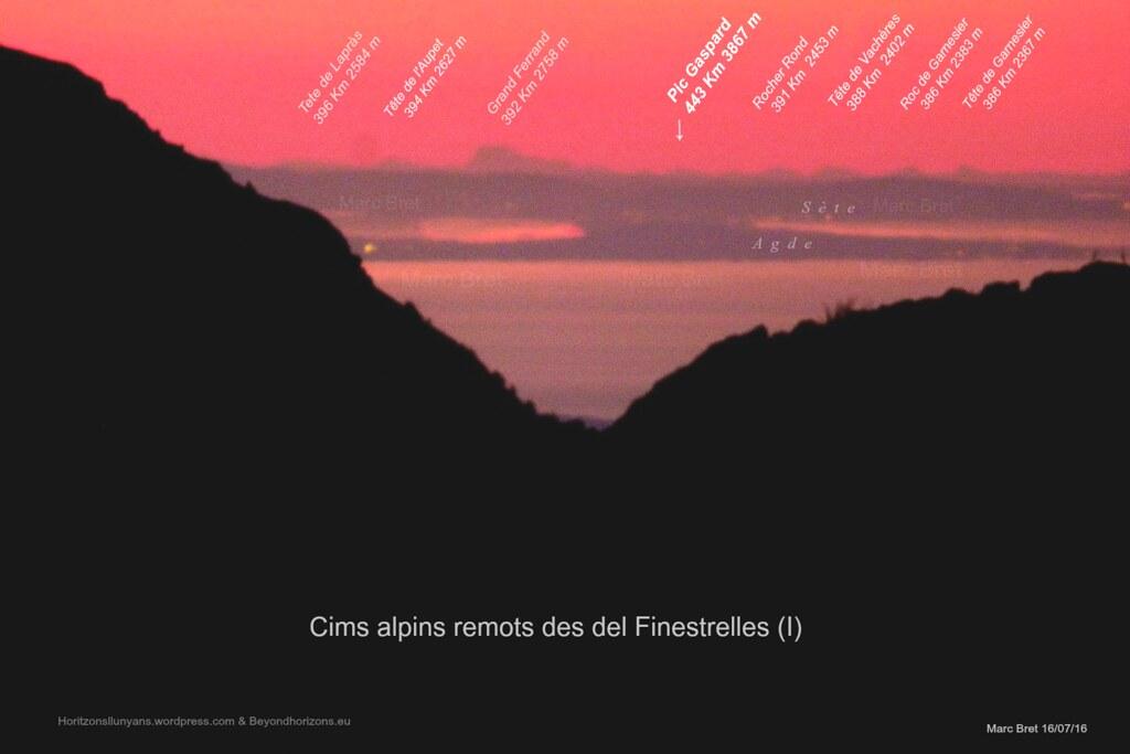 Finestrelles ---> Ecrins 16-07-16  (Mundial record de distància paisatgística).