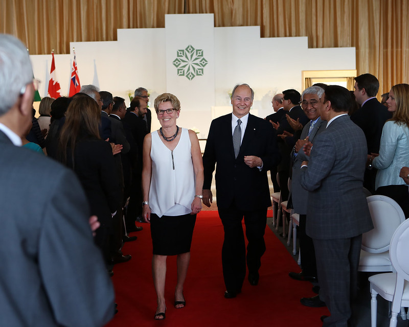 IMG_1822 Premier Kathleen Wynne joined His Highness the Aga Khan to officially open the Aga Khan Park.