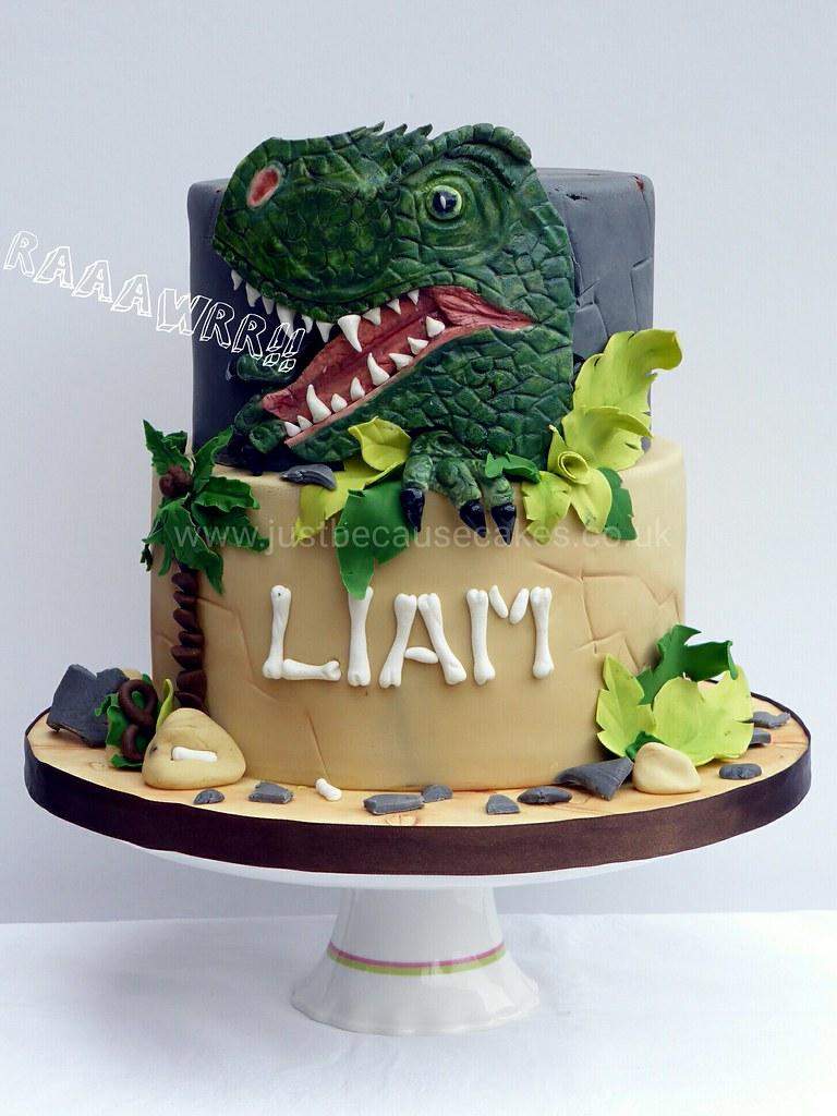 Pleasing Raaawr Big Scary T Rex Dinosaur Cake Gordana Stillingfleet Flickr Funny Birthday Cards Online Alyptdamsfinfo