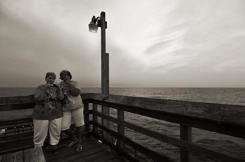ocean sunset blackandwhite pier nikon dusk atlantic d300