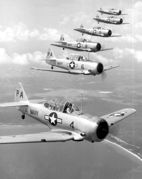 Six Navy planes in formation -  Florida  -