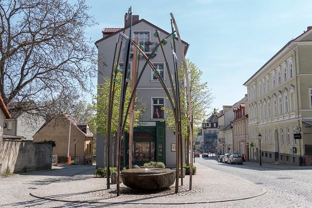 Illusionistische Malerei auf der Fassade eines Hauses zwischen Violinengasse und Königstraße