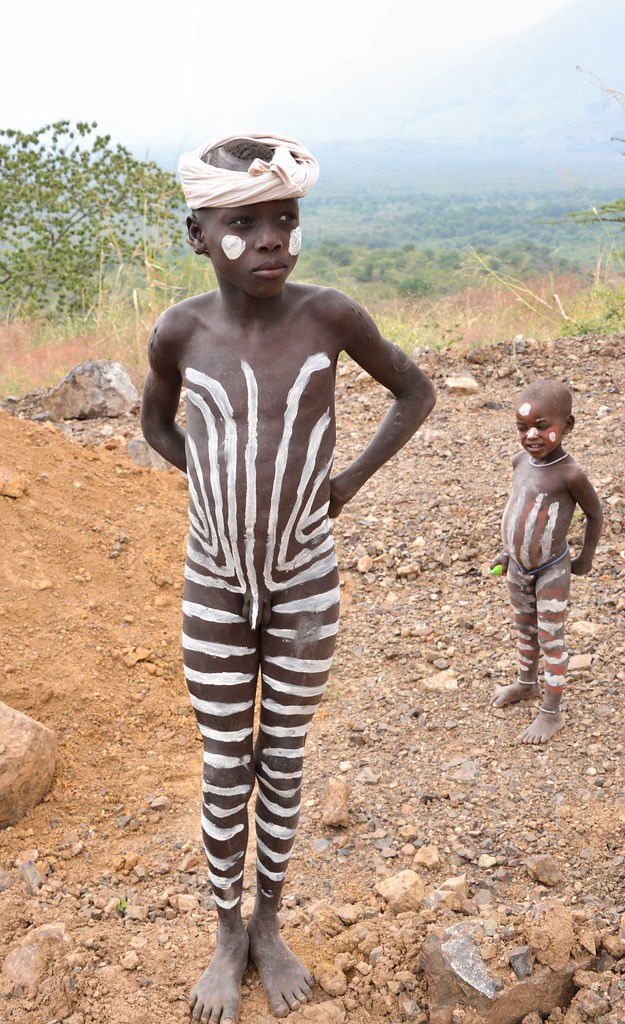 Mursi Boys, Mago, Ethiopia  Rod Waddington  Flickr-7434