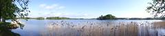Trakai, Lake GalvÄ— from BevardÄ— Island panorama [14.05.2015]