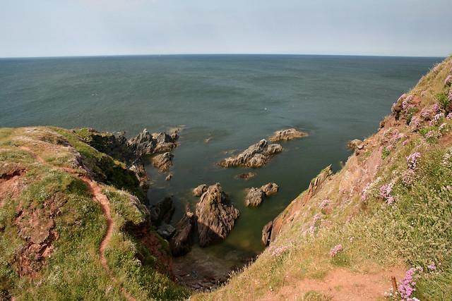 South coast of Burgh Island