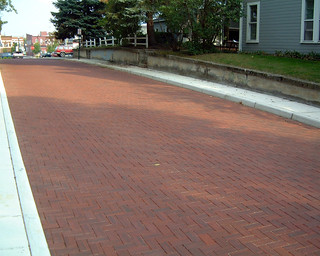 West Court Street, Bowling Green, OH 4x8x3.5 Rolled Edge Plate Texture 36 Red Sunset | by Whitacre Greer