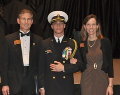 DG Matthew Kane, military escort and Matt's wife Sonia are introduced at the beginning of the evening's banquet.