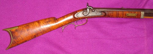 Maple Halfstock Percussion Rifle - Made By Jake Ramey, Bloomington, Illinois