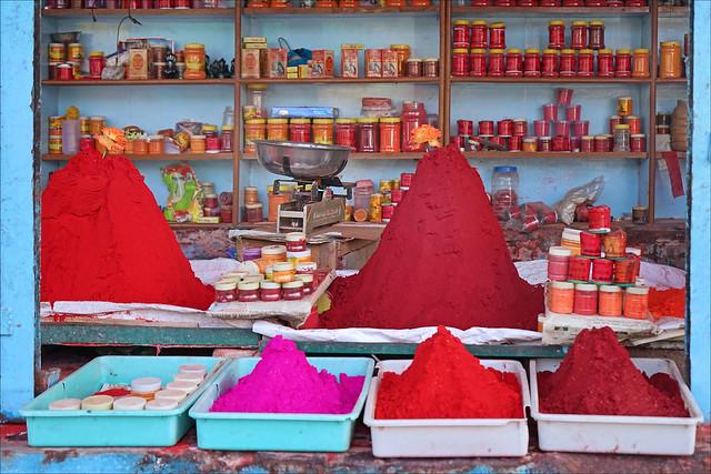 La fête des couleurs à Omkareshwar (Inde)
