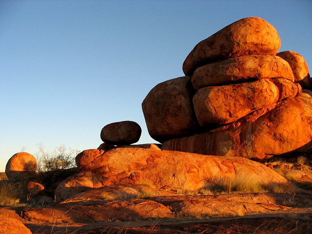 Devil's Marbles at Sunset -