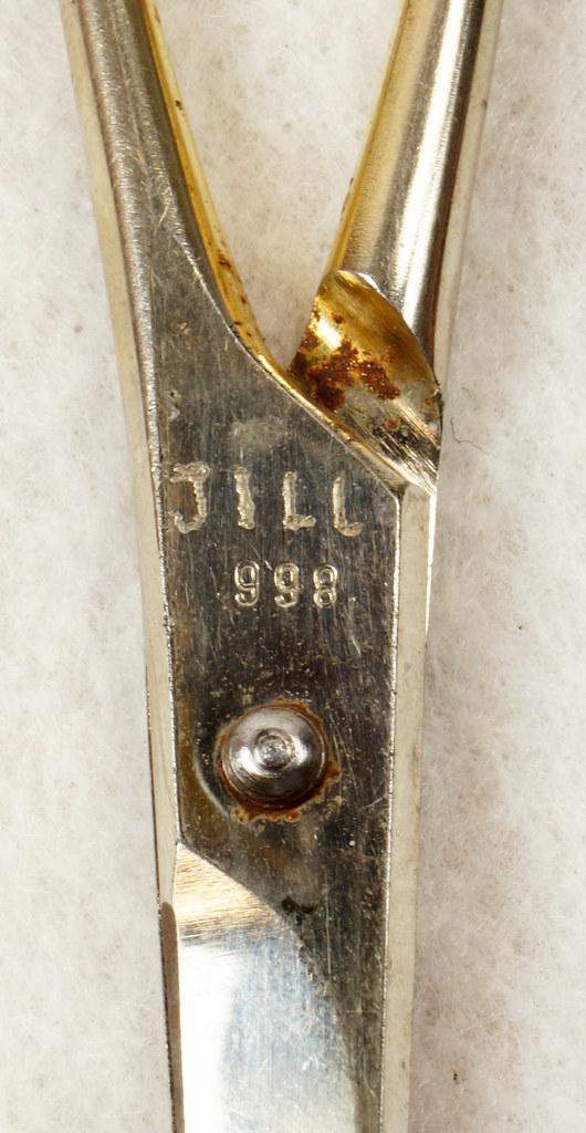 RD13232 Vintage Karina Solingen W. Germany 5 inch Moustache Shears DSC02497